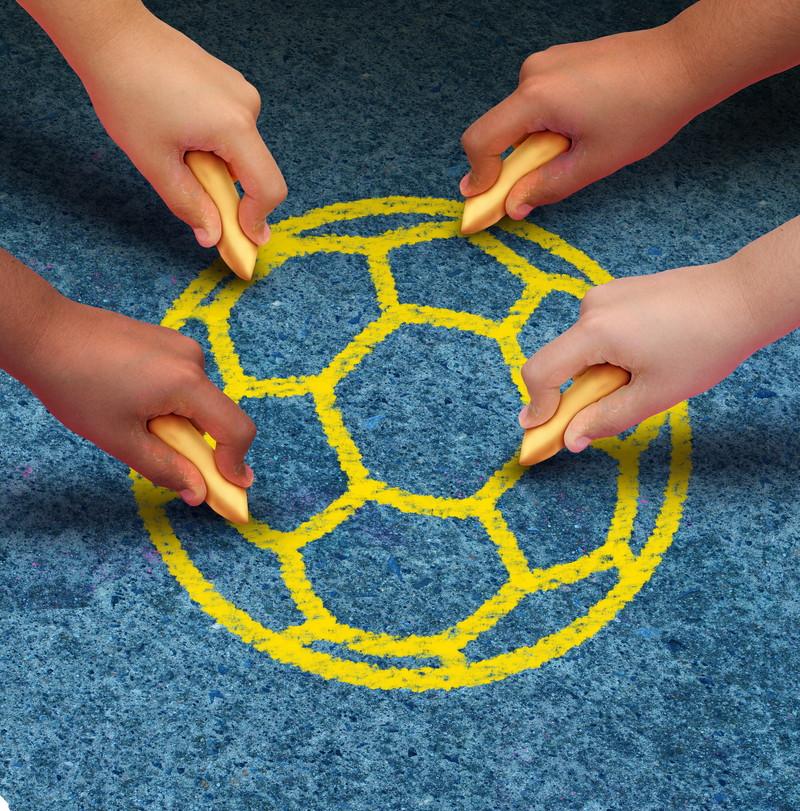 サッカーボールを描く